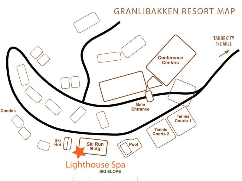 Granlibakken Map